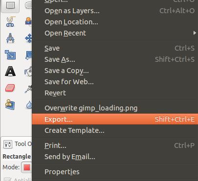 GIMP Export
